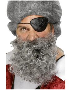 Barba de pirata blanca