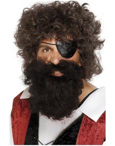 Barba de pirata marrón
