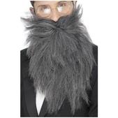 Barba larga y bigote gris