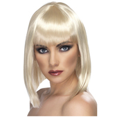 Peluca glamurosa corta rubia