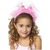 Diadema de mariposa rosa infantil