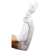 Guantes blancos largos elegantes
