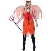 Disfraz de demonia con alas