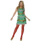 Disfraz de árbol de navidad sexy para mujer