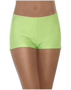 Shorts sexys verdes para mujer