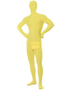 Disfraz de segunda piel amarillo