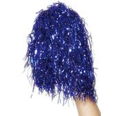 Pompones azul metálico
