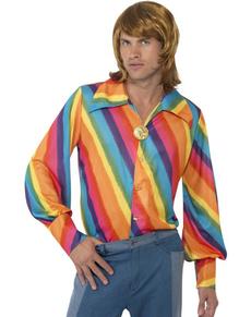 Camisa arco iris de los 70 para hombre