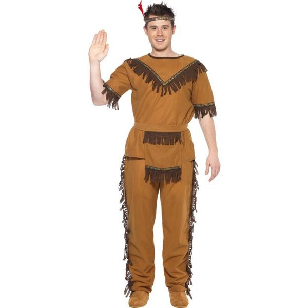 Disfraz de indio valiente con flecos para hombre: comprar online ...