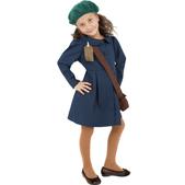 Disfraz evacuada de la Segunda Guerra Mundial para niña