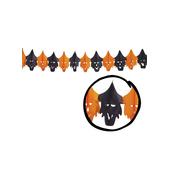 Guirnalda brujas naranjas y negras