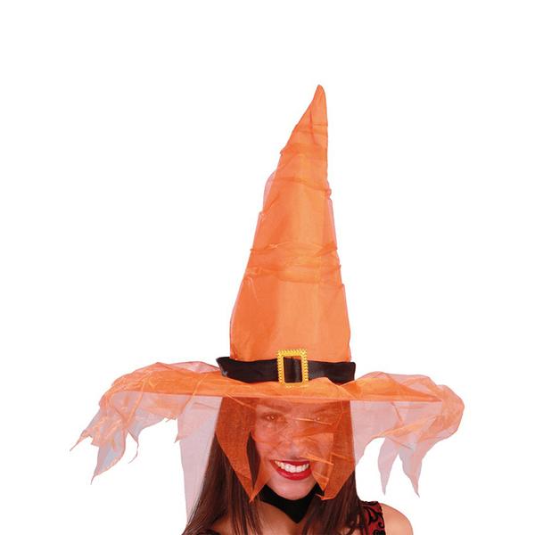 Funidelia FR  Chapeau de sorcière orange