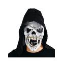 Máscara calavera amenazante con capucha
