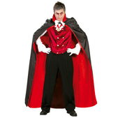 Capa de vampiro negra y roja 145 cm