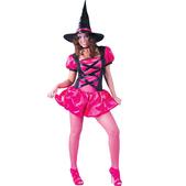 Disfraz de Pretty Witch fucsia para mujer