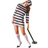 Disfraz de presidiaria zombie para mujer