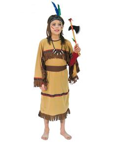 Disfraz de india marrón para niña