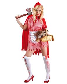 Disfraz de Caperucita feroz sangrienta