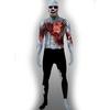 Costume de zombie avec cœur Morphsuit