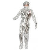 Disfraz de astronauta plateado para adulto