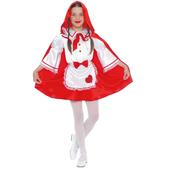 Disfraz de caperucita roja de cuento para niña