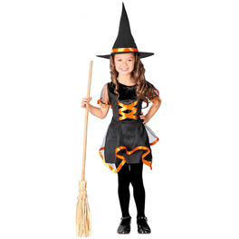 Disfraz de bruja sonriente para niña