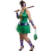 Déguisement de Donatello des Tortues Ninja pour femme grande taille