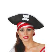 Sombrero de pirata de los mares