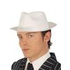 Sombrero de gángster de látex blanco