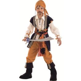 Disfraz de pirata malvado niño