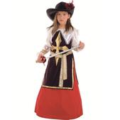 Disfraz de mosquetera Constanza niña