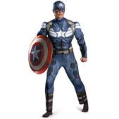 Disfraz de Capitán América Soldado de Invierno musculoso para adulto