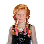 Peluca de Anna Frozen infantil