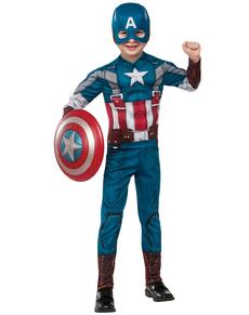Disfraz de Capitán América Soldado de Invierno classic retro para niño