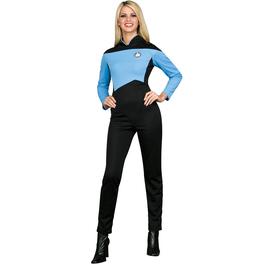 Disfraz de Científica Azul Star Trek La Nueva Generación para mujer