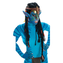 Peluca de Neytiri Avatar con orejas para adulto