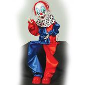 Figura de Payaso Colgante con Luz, Movimiento y Música de 90 cm.