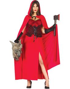 Disfraz de Caperucita Feroz para mujer