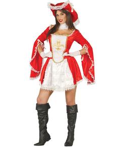 Disfraz de mosquetera valiente para mujer