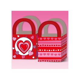 Pack de seis bolsas corazón de regalo