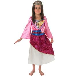 Disfraz de Mulán brillante para niña
