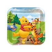 Set de platos cuadrados Winnie the Pooh - Pack de 15