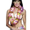 Collar hawaiano multicolor grande deluxe - Pack de 3