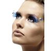 Pestañas azules con plumas - Pack de 6
