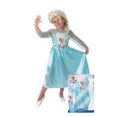 Déguisement Elsa La Reine des Neiges avec perruque pour fille