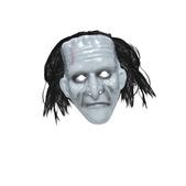Máscara de caballero fantasma con pelo