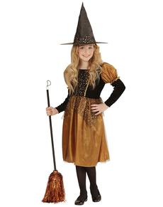 Disfraz de bruja mostaza para niña