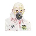 Máscara de zombie radioactivo