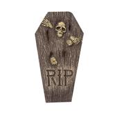 Lápida con esqueleto RIP