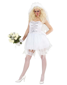 Disfraz de novia zombie promiscua